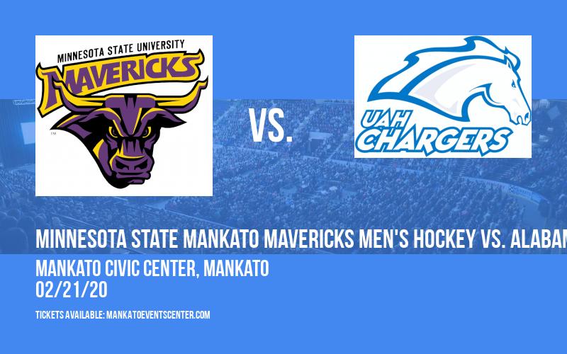 Minnesota State Mankato Mavericks Men's Hockey vs. Alabama-huntsville Chargers at Mankato Civic Center