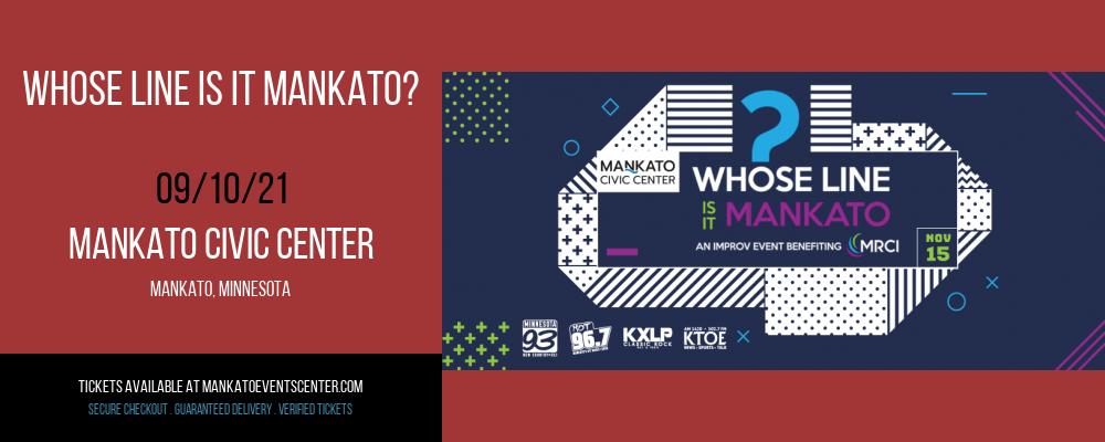 Whose Line Is It Mankato? at Mankato Civic Center